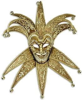 Venetian Full Face Mask Jester Velutto Lux for Men