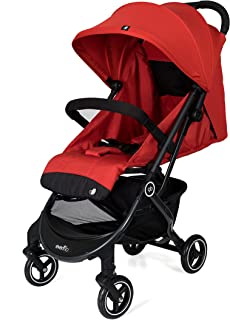 Evenflo PILOT compact folding stroller,Red
