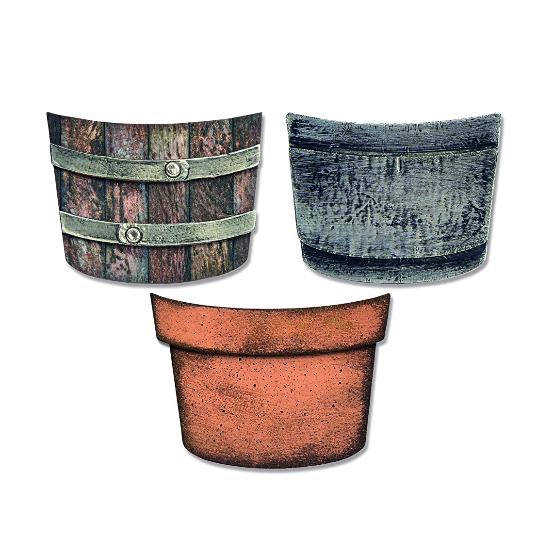 Sizzix 664184 Potted Dies, Multicolor