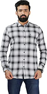 Color Play Men's 100% Pure Cotton Slim Fit Coudroy Checks Casual Full Sleeves Shirt