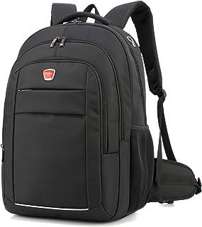 Coolbell (TM) 17,3pulgadas portátil mochila bolsa de hombro equipaje bolsas de viaje/Multifuncional Unisex bolso Oxford gamuza de resistente al agua para iPad/MacBook/Asus/Lenovo/Acer/Dell Allienware para los hombres/mujeres/College/Teen (negro)