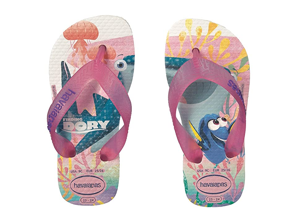 Havaianas Kids Nemo and Dory Sandals (Toddler/Little Kid/Big Kid) (White) Girls Shoes
