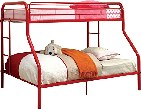 Furniture Of America Non Recycled Metal Bunk Bed Twin Over Full Red Amazon Ca Home