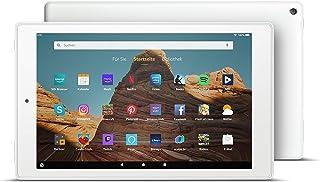 FireHD10 Tablet│10,1Zoll großes FullHD Display (1080p), 32 GB, Weiß, Mit Werbung