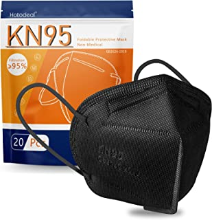 KN95 Face Mask 20 PCS, Filter Efficiency≥95%, 5 Layers Cup Dust Mask Against PM2.5 from Fire Smoke, Dust, for Men, Women, ...