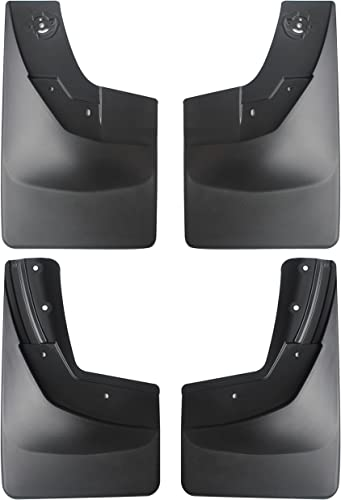 new arrival Amooca 2014-2018 Chevy Silverado 1500 and 2015-2018 2500 outlet online sale 3500 Custom fit No Drill Mud Flaps sale Mud Guards Flare Splash Guards Kits Molded 4 Piece Set NOT for GMC Sierra outlet online sale