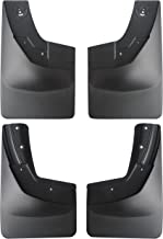 Amooca 2014-2018 Chevy Silverado 1500 and 2015-2018 2500 3500 Custom fit No Drill Mud Flaps Mud Guards Flare Splash Guards Kits Molded 4 Piece Set NOT for GMC Sierra