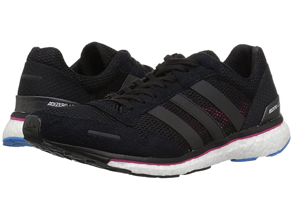 Image of adidas Running Adizero Adios 3 (Black/Real Magenta/Bright Blue) Women's Shoes