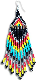 North American Native Indian Style Beaded Craft Jewelry Style Earrings by Pashal