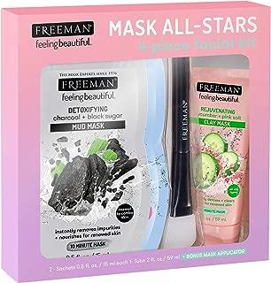 FREEMAN All-Star Face Mask Kit (Limited Edition) - Detoxifying Mud, Hydrating Gel Cream, Rejuvenating Clay