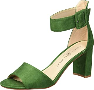 b122beecce Amazon.com: Green - Heeled Sandals / Sandals: Clothing, Shoes & Jewelry