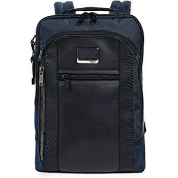 Tumi Men's Alpha Bravo Davis Backpack, Navy, Blue, One Size