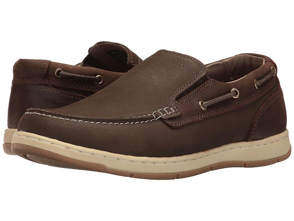 Nunn Bush Sloop Slip-On Boat Shoe (Brown/Brown) Men