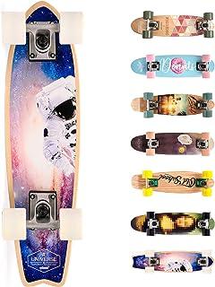 Meteor Skateboard Mini Cruiser Retro Board Completo con Cuscinetti ABEC-7 e Ruote PU Ideale per Bambini Adolescenti e Adul...
