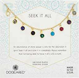 Dogeared Seek It All, Multi Bezeled Gem Necklace