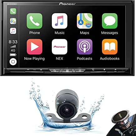 """$572 » Pioneer AVH-W4500NEX Double DIN Wireless Mirroring Android Auto, Apple Carplay in-Dash DVD/CD Car Stereo Receiver, 7"""" Touchscreen + Backup Camera + Gravity Phone Holder"""