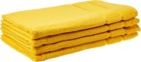 Panache Exports Ethereal Hand Towel Set, Yellow, 40 cm x 70 cm, PEETHHAN01, 4 Pieces
