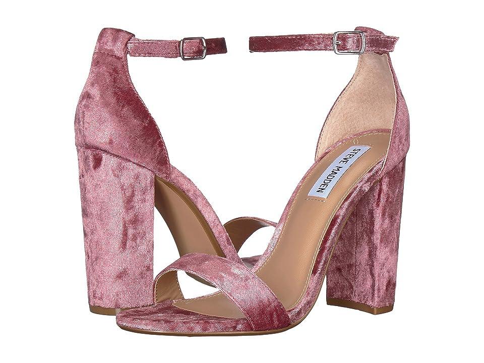 Steve Madden Carrson Heeled Sandal (Pink Velvet) High Heels