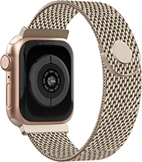 Adepoy Correa para Apple Watch 38mm 40mm 42mm 44mm, Pulseras de Metal de Acero Inoxidable Compatible con iWatch Series 5/4/3/2/1