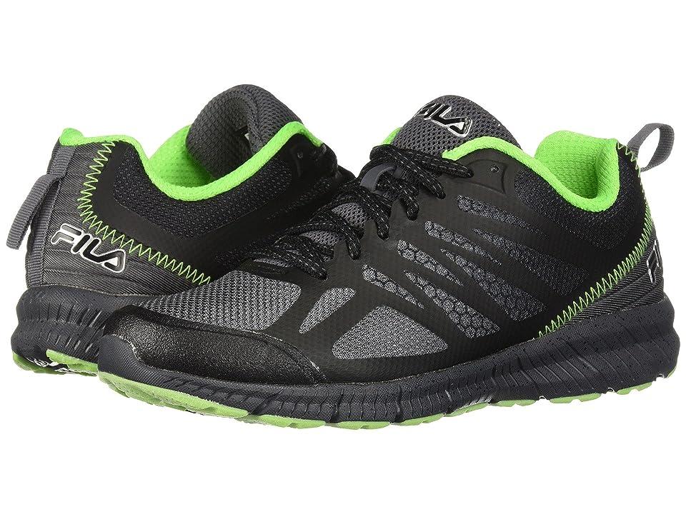 Fila Memory Speedstride Trail (Dark Silver/Black/Green Gecko) Men