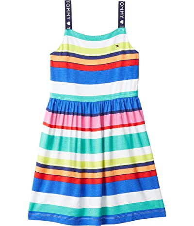 Tommy Hilfiger Adaptive Eleven Sleeveless Knit Dress with VELCRO(r) Closure at Shoulders (Toddler/Little Kids/Big Kids) (Dazzling Blue/Multi) Women...