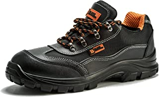 NEW MENS BOYS  SAFETY STEEL TOE CAP WORK   TRAINER BOOTS  black SIZE uk 6