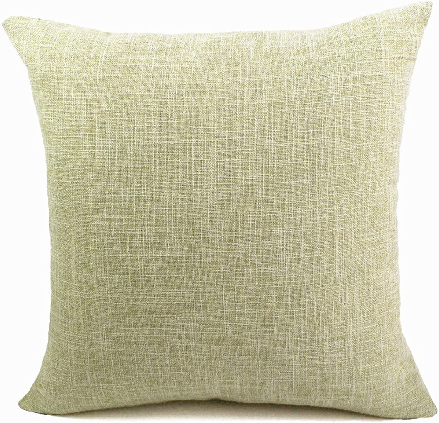 ChezMax Solid Linen Imitation Cushion Covers Throw Pillow Covers Soft Linen Rectangular Throw Pillow Cases Pillowslip
