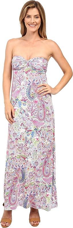 Palais Paisley Strapless Dress