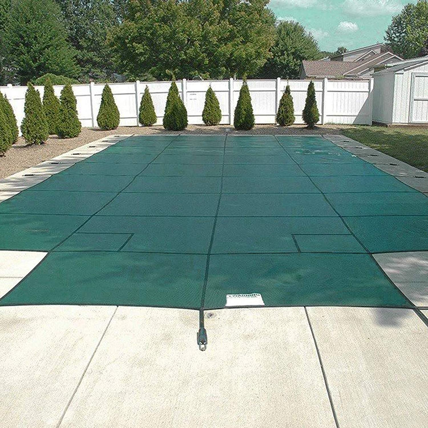 Buy Happybuy Pool Safety Cover Fits18x36ft Inground Safety Pool Cover Green Mesh with 4x8ft Center End Steps Solid Pool Safety Cover for Swimming Pool Winter Online in Indonesia. B07L59SJF8
