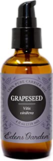 Edens Garden Grapeseed Carrier Oil (Best For Mixing With Essential Oils), 4 oz