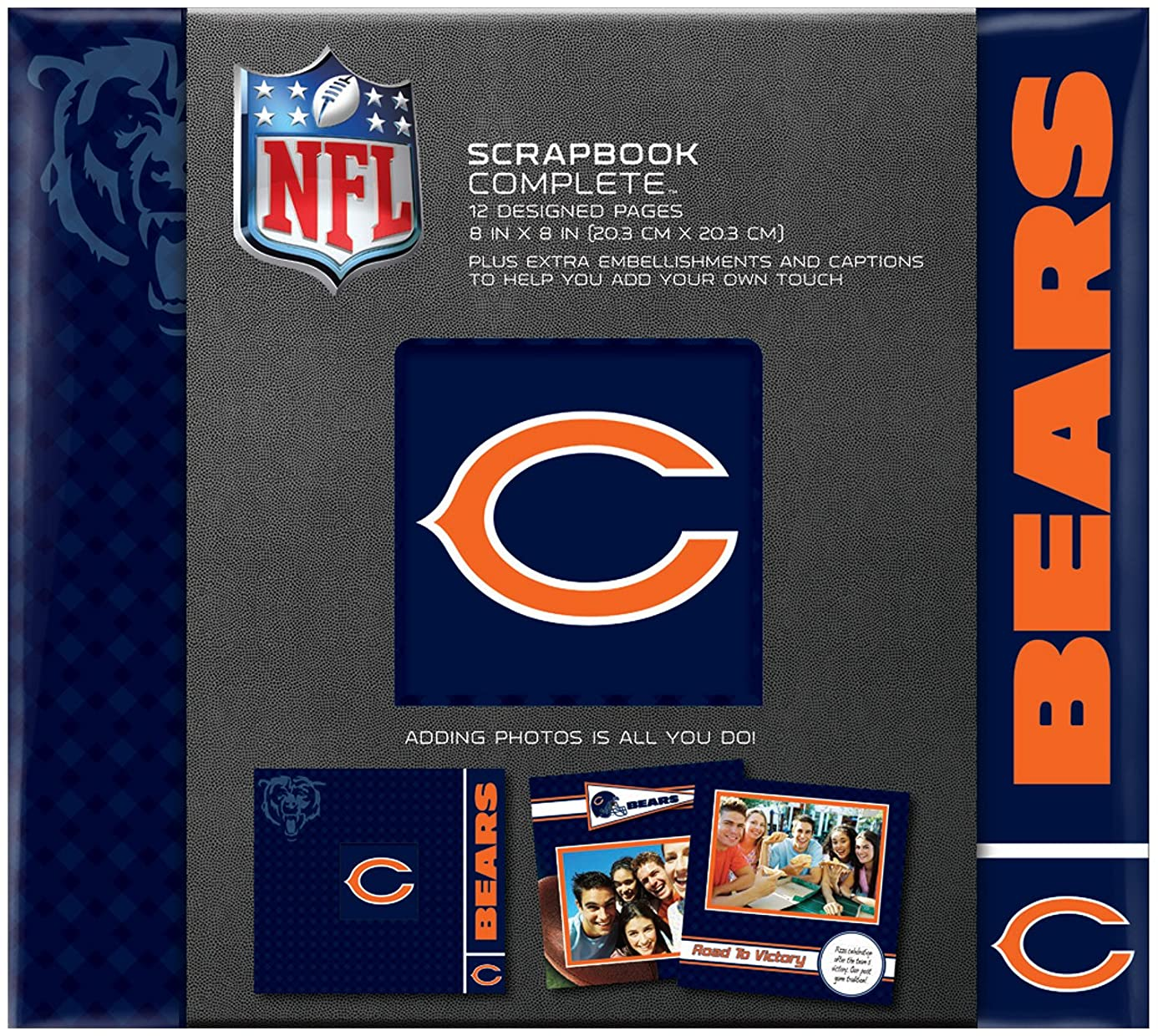 C.R. Gibson Scrapbook Complete Kit, Small, Chicago Bears (N861596M)