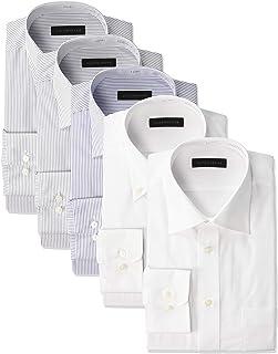[コナカ] 形態安定加工/お好みで好きなセットが選べるビジネスワイシャツ5枚セット/オールシーズン/レギュラーシルエット【少しゆったり】/選べるバリエーション【レギュラーカラー/ボタンダウン/ワイドカラー】/メンズワイシャツ YS-BAN-5SET