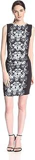 فستان نيكول ميلر كريب مزين بالزهور للنساء