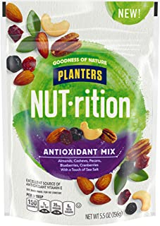 Planters NUT-rition Lightly Salted Antioxidant Rich Mixed Nuts with Dried Blueberries & Cranberries, 5.5 oz Bag (Pack of 4)
