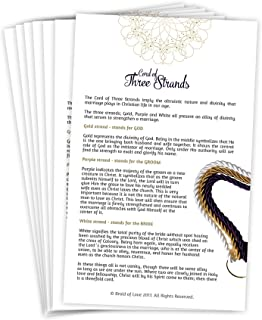Braid of Love A Cord of Three Strands Wedding Explanation Cards for The Perfect Wedding Ceremony, 25 Piece