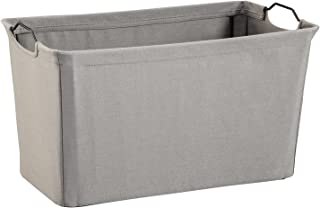 ClosetMaid 1629 Wide Wire Frame Fabric Bin, Dark Gray