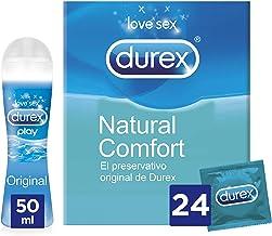 Durex Preservativos Comfort + Lubricante Play Original - 24 condones + 50ml