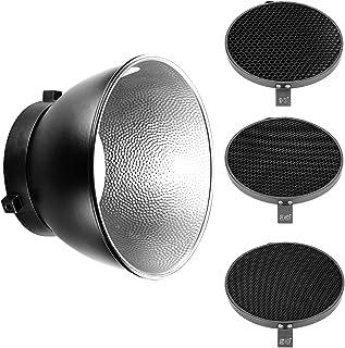 Neewer 18 cm/7 tum standard reflektor diffusor med 10/30/50 graders bikakestruktur rutnät för Bowens Mount Studio Light St...