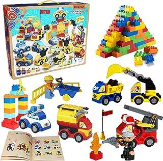 Toy Cars Building Blocks Set 171-pieces Vehicle Building...