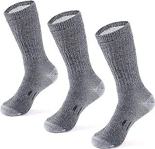 Merino Wool Hiking Socks for Men and Women – 3 Pairs...