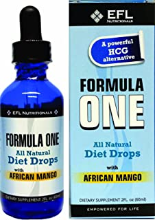 FORMULA ONE ™ All Natural Diet Drops with African Mango. For use with the Formula One Diet Plan, Includes Allowable Foods ...