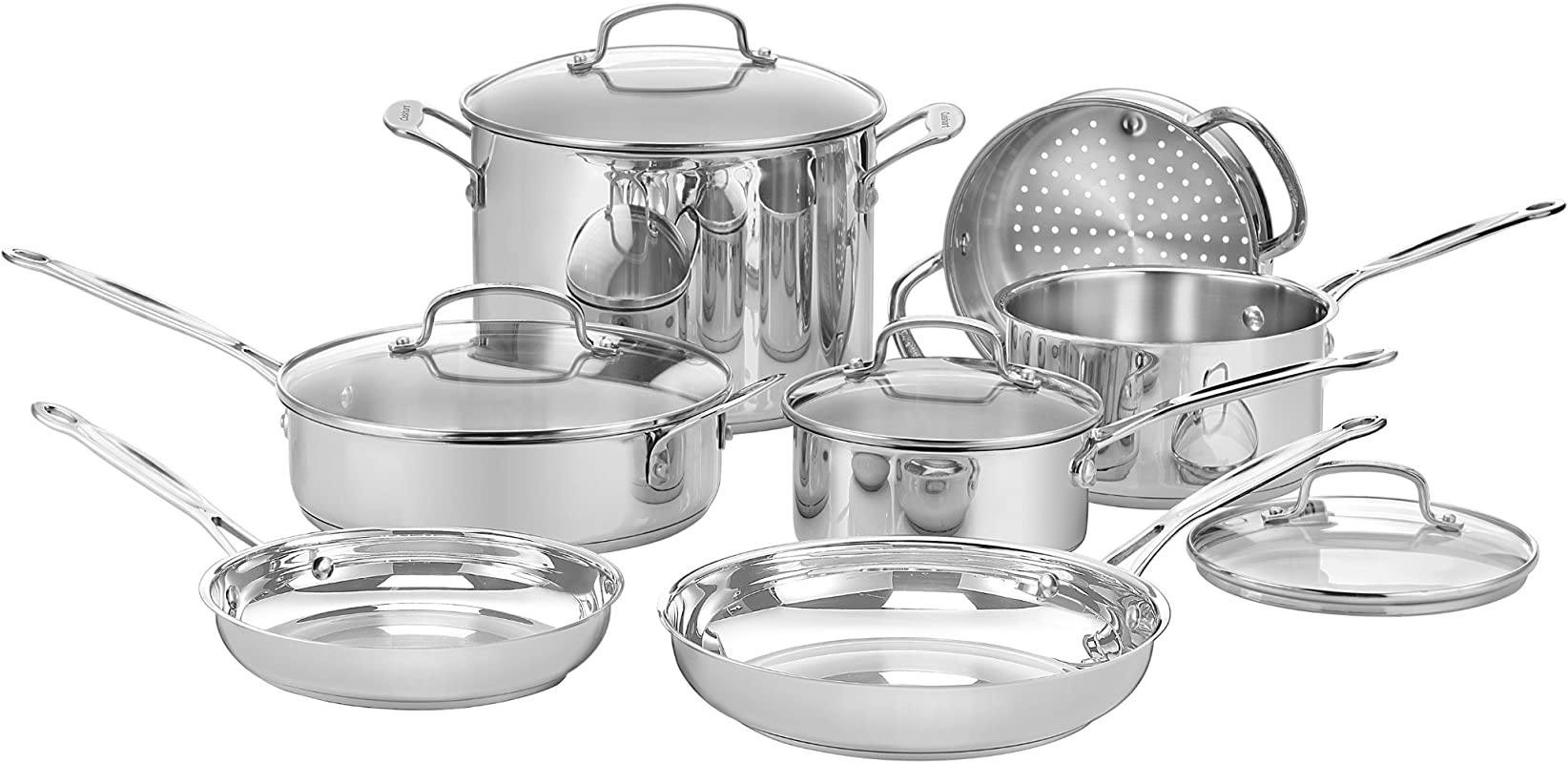 Cuisinart 77 11G Chef S Classic Stainless 11 Piece Cookware Set