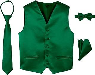 Boys' 4-Piece Satin Tuxedo Vest Set