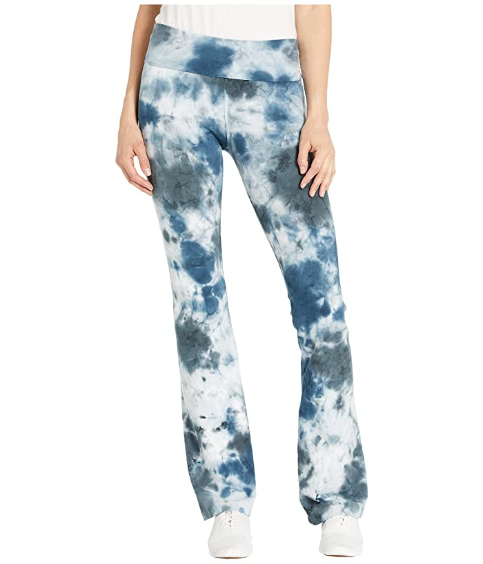 Hard Tail Rolldown Bootleg Flare Pants (Botanical Wash # 3) Women