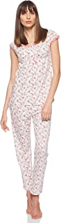 JOANNA Women's Floral Pattern Pajama Set, Medium, Pink