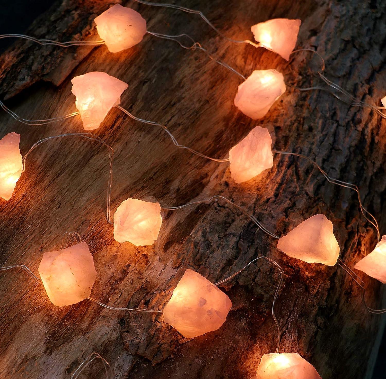 Genuine Sale Rose Nashville-Davidson Mall Quartz Crystal Decorative C Stone Raw String Lights