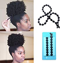 BunzeeBands Adjustable Length Hairband | Long Cushioned Headband Ties for Women with Thick, Braided, Kinky, Curly, Natural Hair | Extra Stretchy, No-Slip Design (Single, Black)
