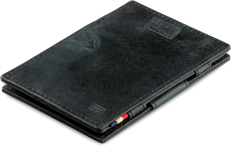 Garzini Magic Wallet Cavare – Magischer Magischer Magischer Geldbeutel mit Pull-Tab System und RFID-Blocker aus Echtleder Gebürstet (Brushed schwarz) B07CST3GMZ 32c8f7