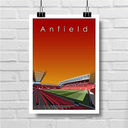 Stadium Map Print Football Stadium Artwork Liverpool Street Map Sports Fan Gift Anfield Print Anfield Red Liverpool Wall Art Poster