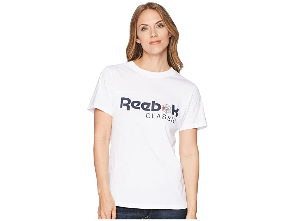 Reebok Graphic Tee (White/Collegiate Navy) Women